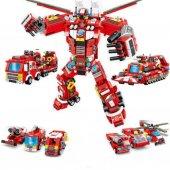 Yukka 8 Çeşit Lego Yangın Kurtarma Oyuncak