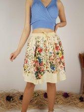 Kadın Bej İthal Hint Etek Astarlı Cotton Kumaş 10318