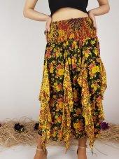Kadın Ithal Hint Çiçek Desen Etek 10295