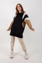 SOUL Kadın Siyah Tunik Sweatshirt 10590