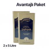 Yiyipduru 2li  Erken Hasat Soğuk Sıkım Natürel Sızma Zeytinyağı 5 LT x 2