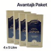 Yiyipduru 4lü  Erken Hasat Soğuk Sıkım Natürel Sızma Zeytinyağı 5 LT x 4