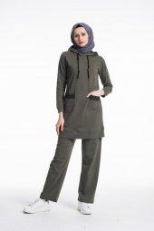 Kadın Haki Yeşil Efsane İkili Eşofman Takımı 10627