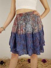 Kadın Mavi Ithal Hint Etek Çiçekli 100 Cotton 10156