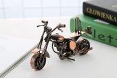 Metal Retro Motosiklet Modeli El Yapımı Dekor Biblo
