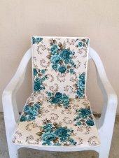 Arkalıklı Sandalye Minderi, Bahçe Minderi-Bahar Mavi