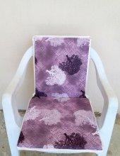 4 Adet Arkalıklı Sandalye Minderi, Bahçe Minderi-Çınar Mor