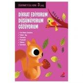Dikkat Ediyorum, Düşünüyorum, Çözüyorum - Öğrenmeye İlk Adım (3 Yaş) - Erdem Çocuk Yayınları