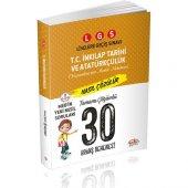 Editör Yayınları 8. Sınıf LGS T.C. İnkılap Tarihi Ve Atatürkçülük Tamamı Çözümlü 30 Deneme Sınavı