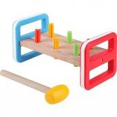 Kanz Ahşap Renkli Tak Çak Oyunu - Eğitici Ahşap Oyuncak
