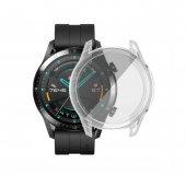Huawei Watch GT2 46mm Önü Kapalı Silikon Kılıf (Şeffaf)