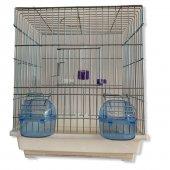 Muhabbet Kuşu kafesi yemlik suluk tünek dahil kampanya kalın telli