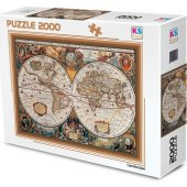 Ks Games 2000 Parça 17 Th Centruy World Map Puzzle (11204)