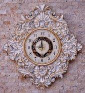 Duvar Saati Beyaz / Altın  Rengi
