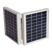 DUAL Solar Panel 2li 9v 4 watt 143*137*36 2.5 Metre Kablolu