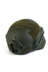Haki Koruyucu Başlık Miğfer - Askeri Airsoft Paintball Kask