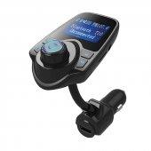 Magicvoice T10 Led Ekran Usb+TF Desteği 2.1A Bluetooth Destekli FM Transmitter