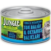 Jungle Kedi 85 gr 24 Adet Ton-Okyanus Balıklı Yaş Ezme Kedi Konserve Yaş maması Skt: 07/2024