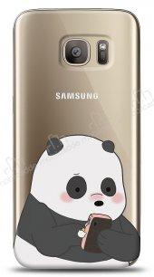 Samsung Galaxy S7 Edge Confused Panda Kılıf
