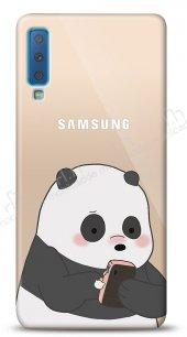 Samsung Galaxy A7 2018 Confused Panda Kılıf