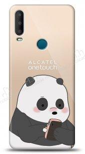 Alcatel 3x 2019 Confused Panda Kılıf