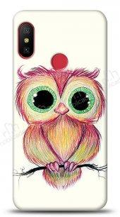 Xiaomi Redmi Note 6 Pro Cuddly Owl Kılıf