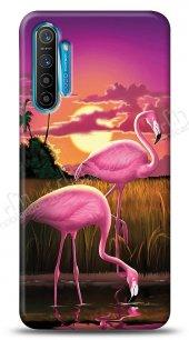 Realme C3 Sundown Flamingo Kılıf