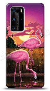 Huawei P40 Pro Sundown Flamingo Kılıf