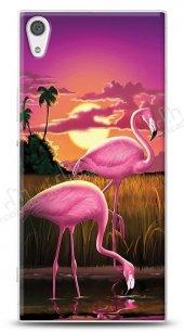 Sony Xperia XA1 Ultra Sundown Flamingo Kılıf