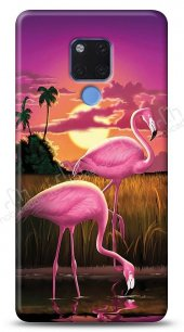Huawei Mate 20 X Sundown Flamingo Kılıf