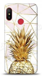 Xiaomi Redmi Note 6 Pro Gold Pineapple Kılıf