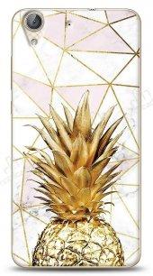 Huawei Y6 ii Gold Pineapple Kılıf