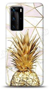 Huawei P40 Gold Pineapple Kılıf