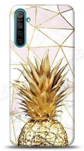 Realme 6 Gold Pineapple Kılıf