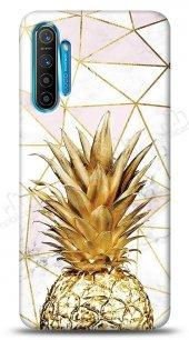 Realme C3 Gold Pineapple Kılıf