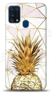 Samsung Galaxy M31 Gold Pineapple Kılıf