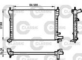 RADYATOR CLASSIC FIESTA 1.0I-1.1I-1.3 89-02 AC+ MEK 360X500X34 ZZVALEO 231617