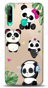 Huawei P40 Lite E Happy Panda Kılıf