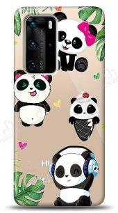 Huawei P40 Pro Happy Panda Kılıf