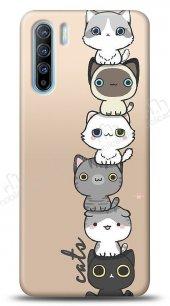 Oppo Reno3 Lovely Cats Kılıf