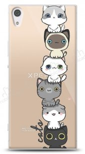 Sony Xperia XA1 Ultra Lovely Cats Kılıf