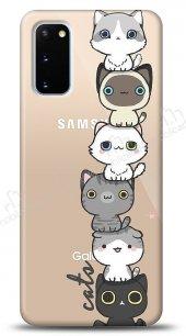 Samsung Galaxy S20 Lovely Cats Kılıf