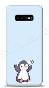 Samsung Galaxy S10 Plus Kalp Penguen Kılıf