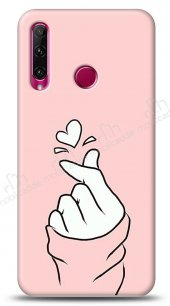 Honor 20 Lite Pink Finger Heart Kılıf
