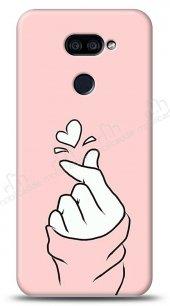LG K40S Pink Finger Heart Kılıf