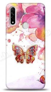 Oppo A31 Colorful Butterfly Taşlı Kılıf