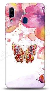 Casper Via E3 Colorful Butterfly Taşlı Kılıf