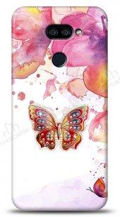 LG K40S Colorful Butterfly Taşlı Kılıf
