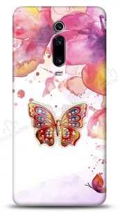 Xiaomi Mi 9T Colorful Butterfly Taşlı Kılıf
