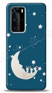 Huawei P40 Aynalı Ay Kılıf
